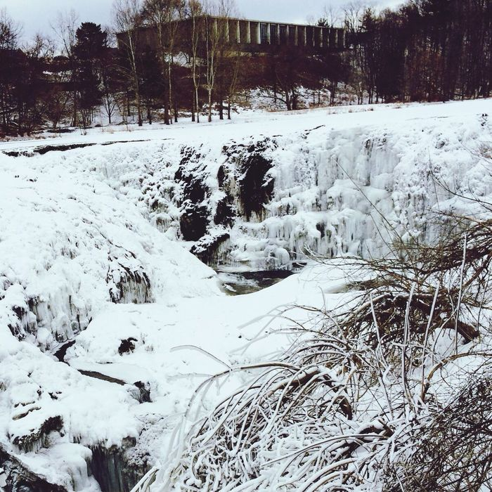 Snow Cold Waterfall Cornell University