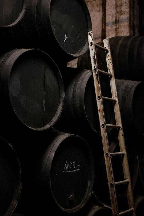 Barrel Barrels Black Bodega Cask Casks Dark Drum Ladder No People Oak Production Ripening Sherry Sherry Wine Solera Still Life Tools Wine Winery Wood Work