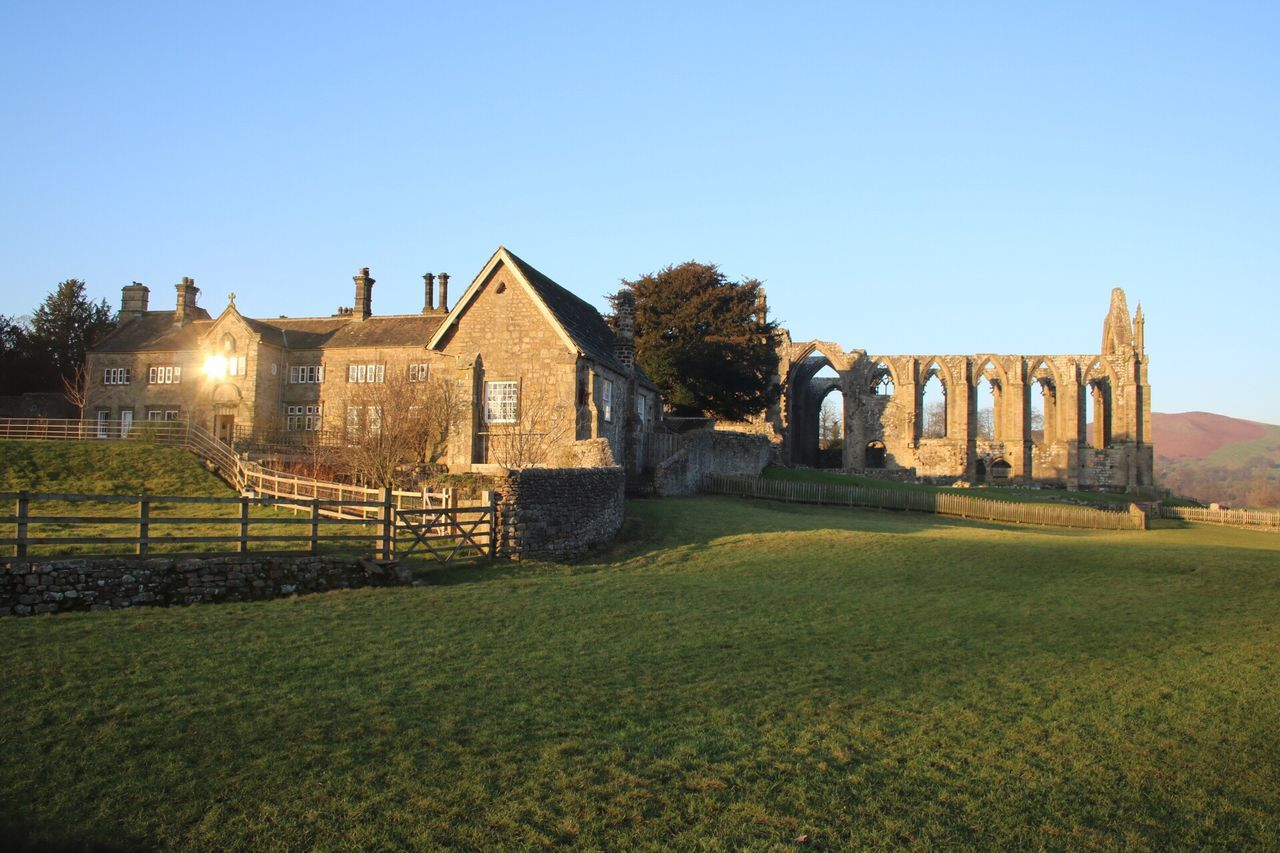 Nice Winters afternoon in Yorkshire Architecture Old Ruin Sunlight Grass History No People Travel Destinations Sky Tree Field BoltonAbbey Yorkshire Yorkshire Dales Winter Sun