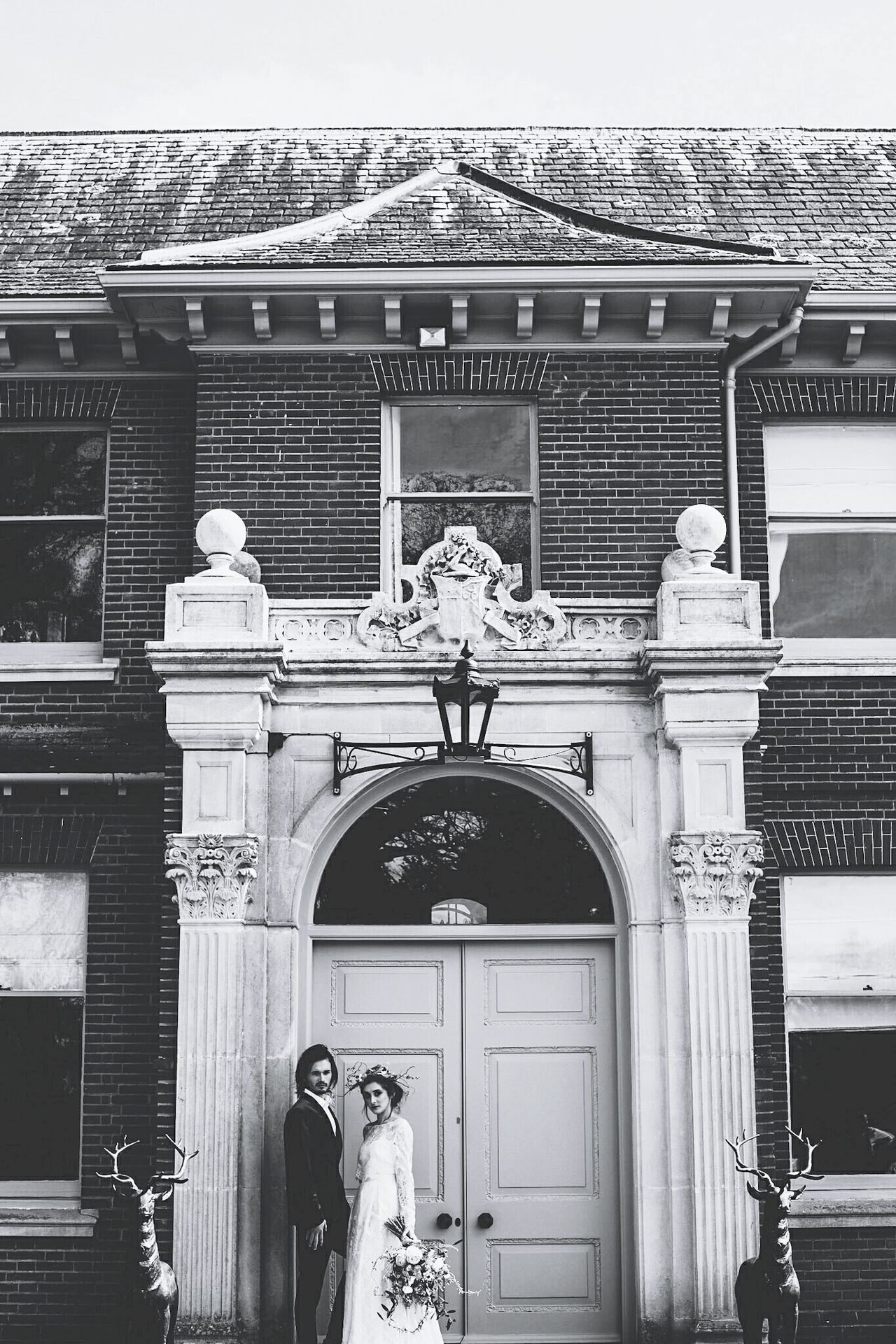 Building Exterior Built Structure Outdoors Architecture Entrance Arch Day Wedding Wedding Dress Wedding Venue People Young Women Two People Photoshoot Fashion Togetherness Beautiful People Standing Lauraloophotography