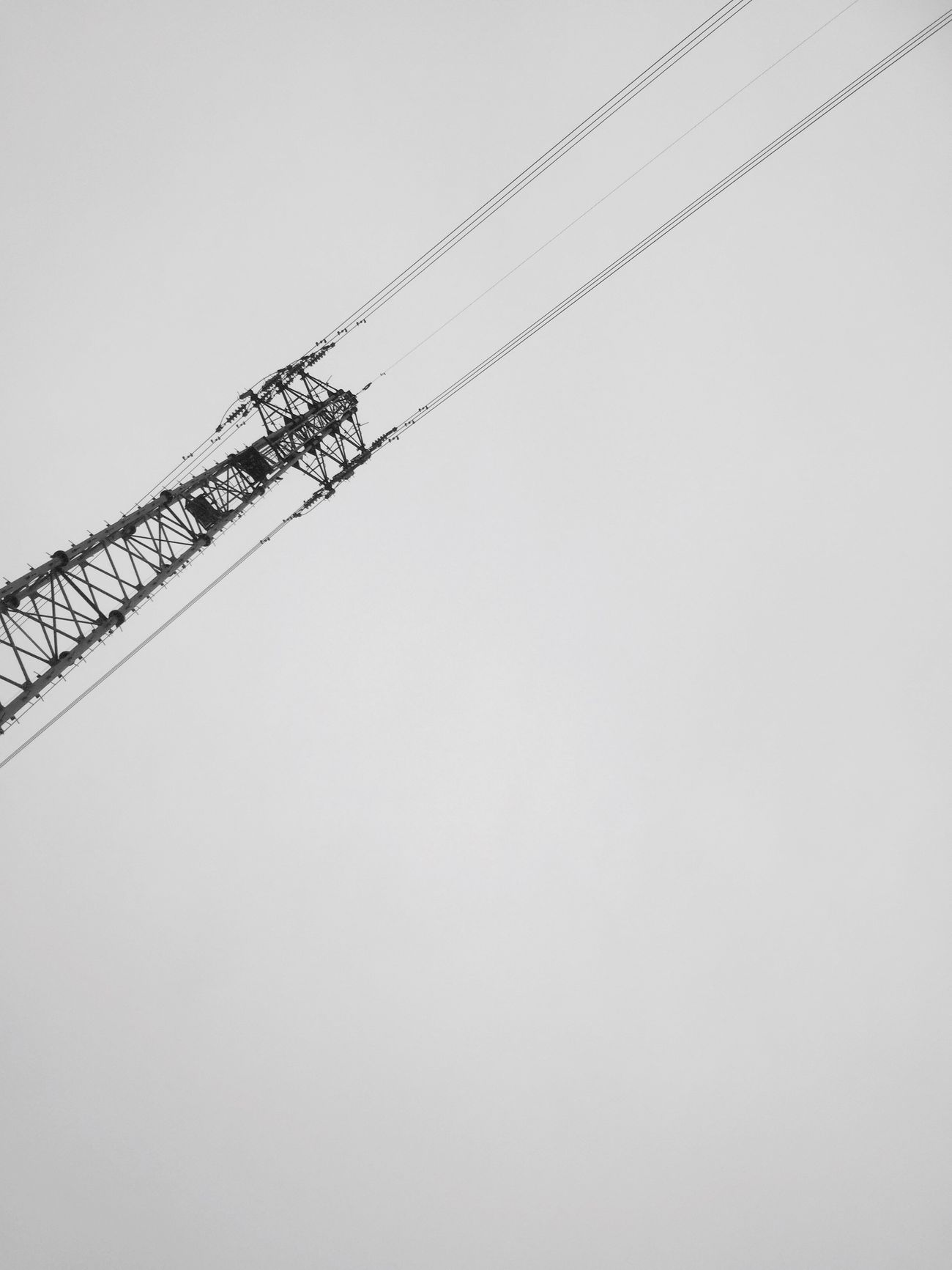 Copy Space Clear Sky Low Angle View Electricity  No People Cable Industry Power Supply Silhouette Sky Connection Iron - Metal Outdoors Electricity Pylon Day