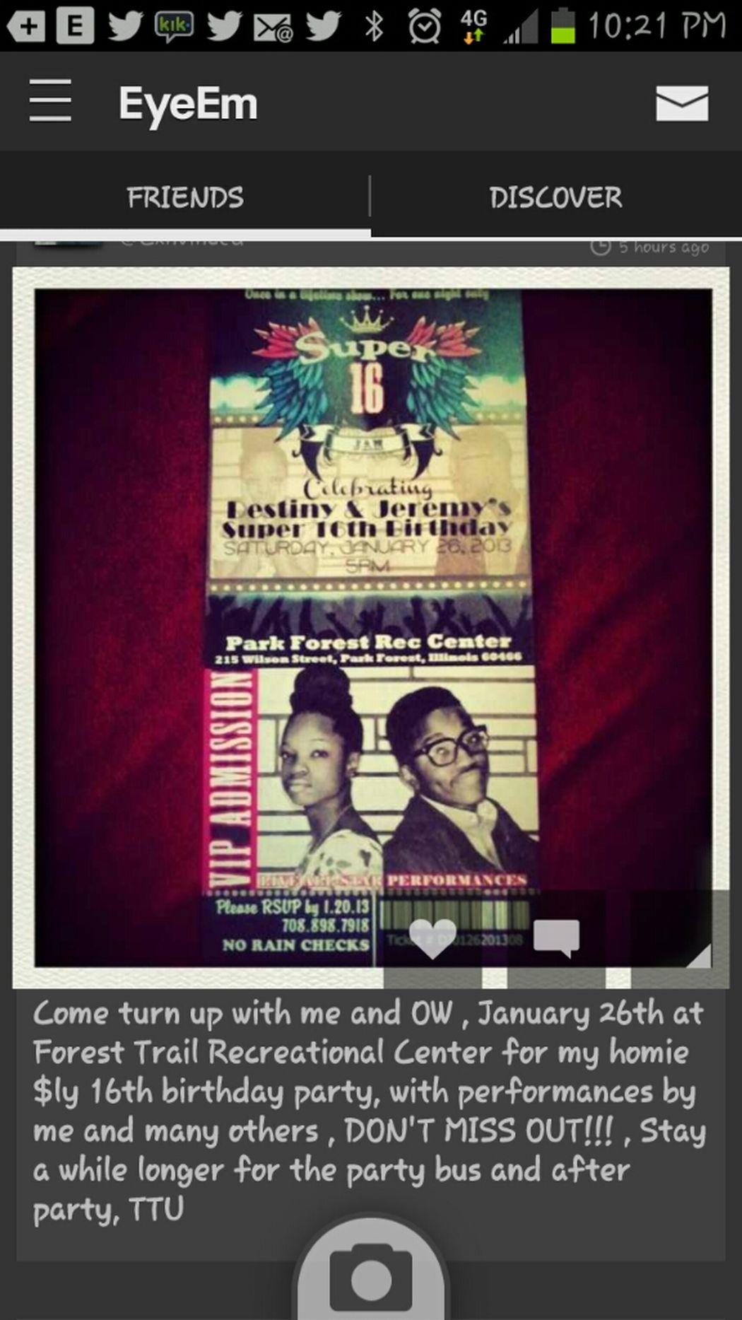 Aye! Everybody Come Turn Up With Me & My Niggas For Jeremy Bday! Plan To Stay For The After Party! It's Gon Be Live!