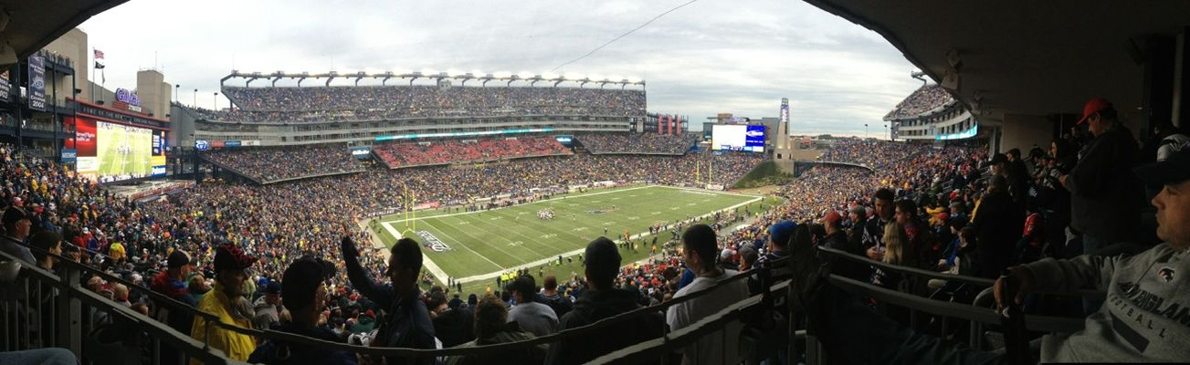 Supporting my team at Gillette Stadium by Brendan Miller