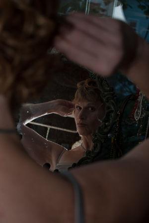 Miri in the mirror Portrait Reflection Mirror Classic Hair Beauty