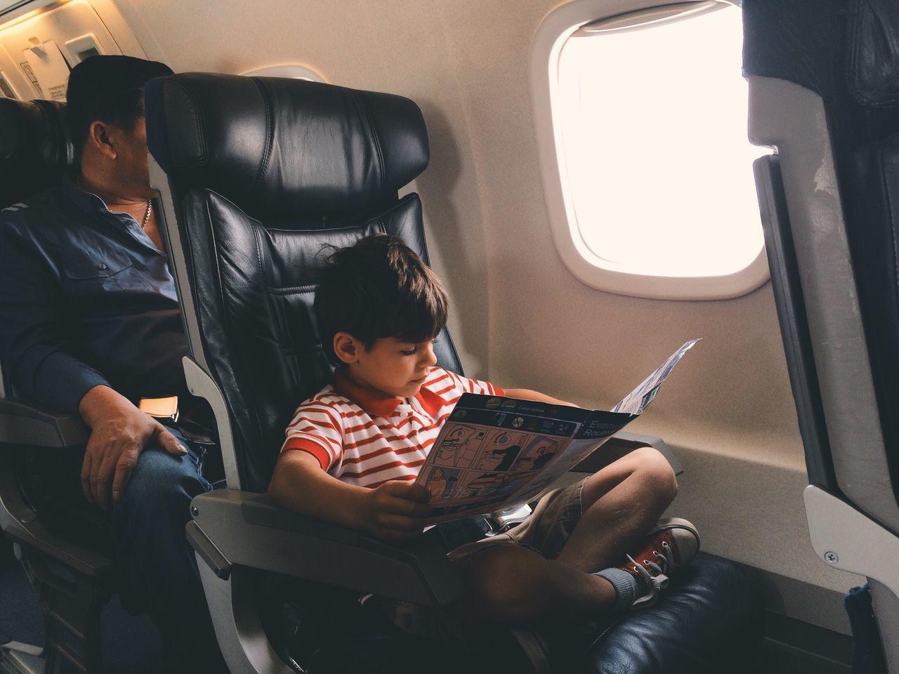 Beautiful stock photos of airplane, Air Vehicle, Airplane, Airplane Seat, Boys