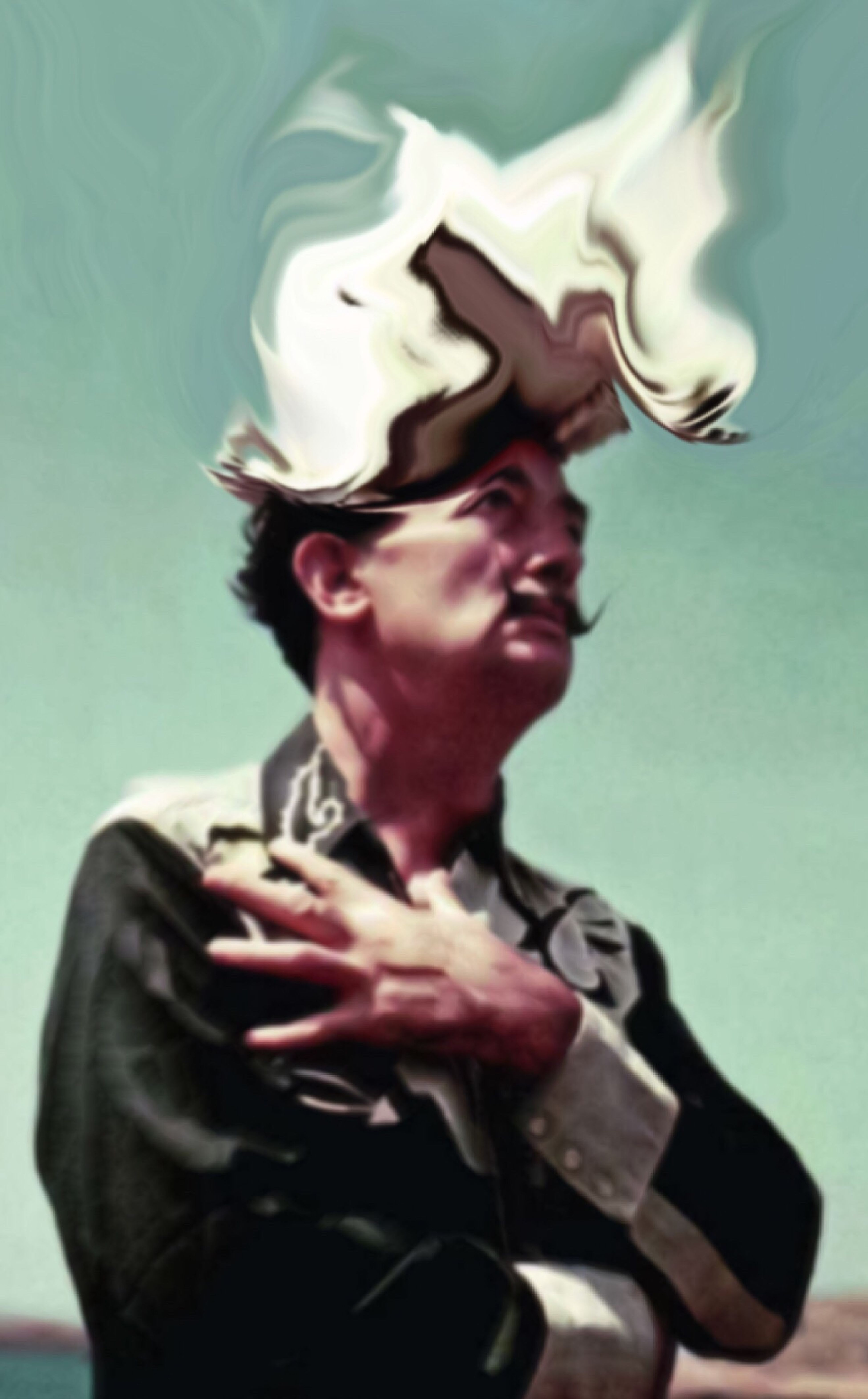 What's On Dali's Head Never Forgotten  Facial Experiments Photographic Approximation Surrealism
