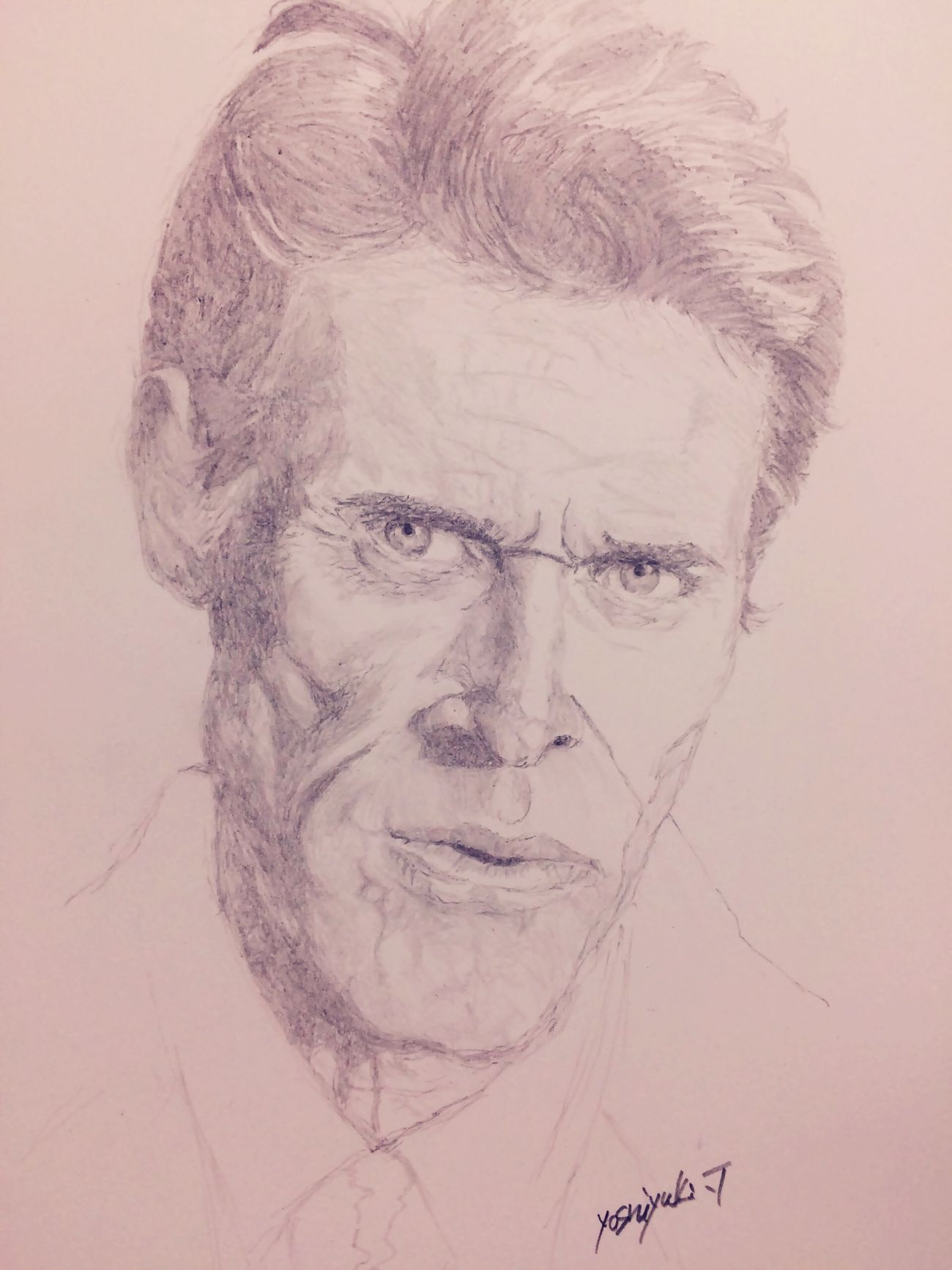 Pencil Drawing Color Portrait Platoon プラトーン MyDrawing Art, Drawing, Creativity ArtWork Art Drawing Willem Dafoe