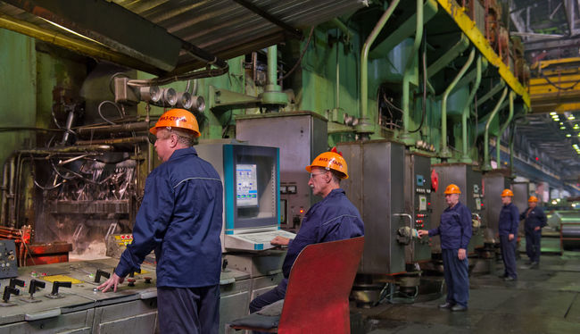 Russia, Yekaterinburg, Upper Iset plant, steel cold rolling mill Casual Clothing City Life Day Illuminated Journey Leisure Activity Lifestyles Medium Group Of People Men Public Transportation Russia, Yekaterinburg, Upper Iset Plant, Steel Cold Rolling Mill Standing