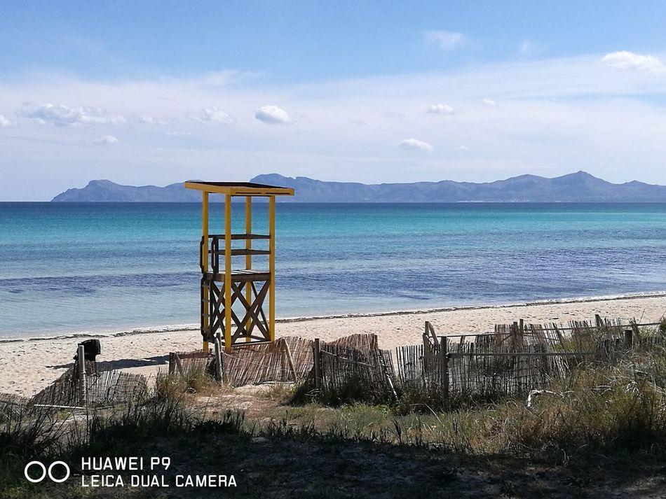 Water Beach Sea No People Nature Day Sky Mallorca Mallorca (Spain) AlcudiaBeach HuaweiP9 Huaweiphotography Huawei Huawei P9 Leica Huaweip9photos Huaweimobile Beauty In Nature море👻🌊 Средиземное море Mediterranean  средиземноморье Море, я люблю тебя  Mediterranean
