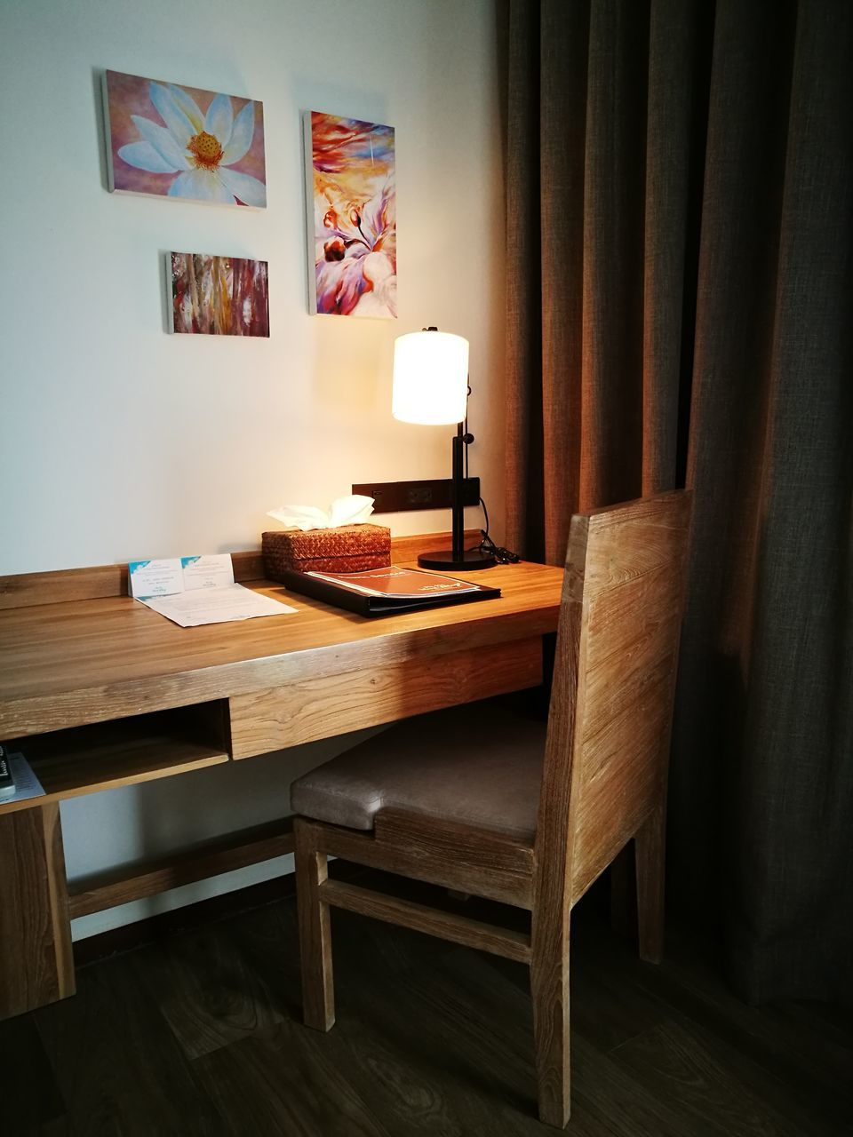 table, indoors, wood - material, home interior, no people, chair, desk, home showcase interior, day