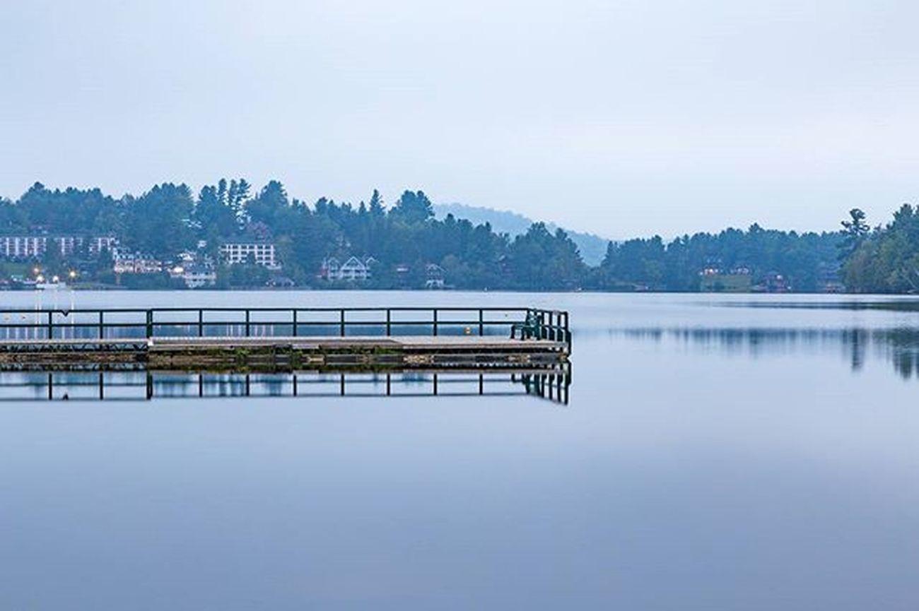 Peaceful ADK Morning ADK Lakeplacid Sunrise Longexposure Dock POTD Photooftheday Landscape Reflection Mirror