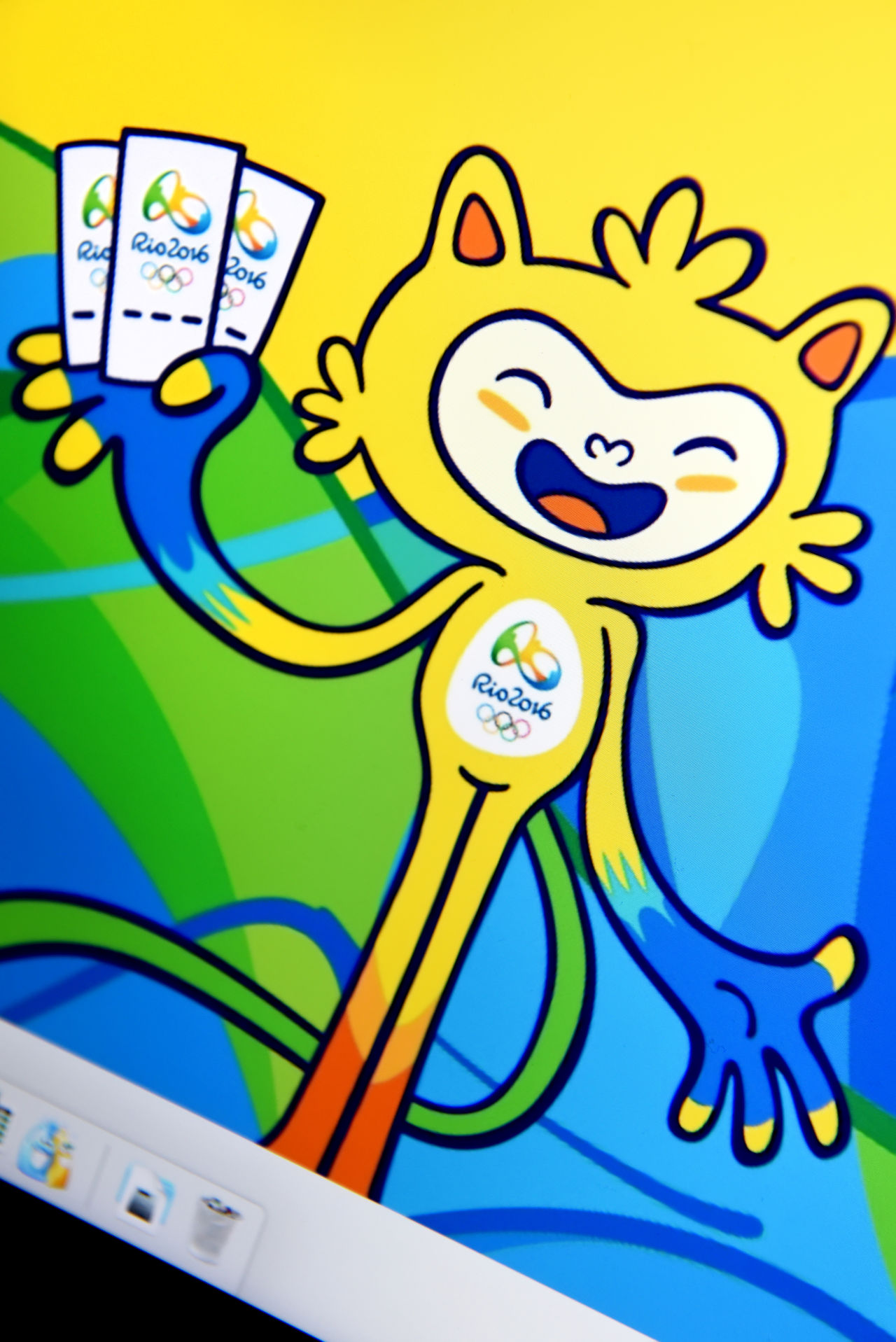 Latvia, Riga- May 17, 2016: Rio 2016. Official website of the Rio 2016 Olympics (5-21 Aug) in Rio de Janeiro, Brazil. Address August Brazil Championship Computer Editorial  Home Page Icon Internet Laptop Logo Logotype Monitor Official Olympic Rio 2016 Rio 2016 Olympics Rio De Janeiro Screen Symbol Tickets Website Www