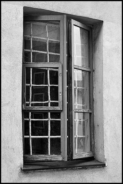 Through the window Windows Wooden Window Old Buildings Old Town Old Window Likeforlike Followme Architecture Blackandwhite Photography Black And White Black And White Photography Lines Square Grid Reflection Parts Black And White Collection  Moment Through The Window Like It Old Place Wall Old House Strreet Black&white