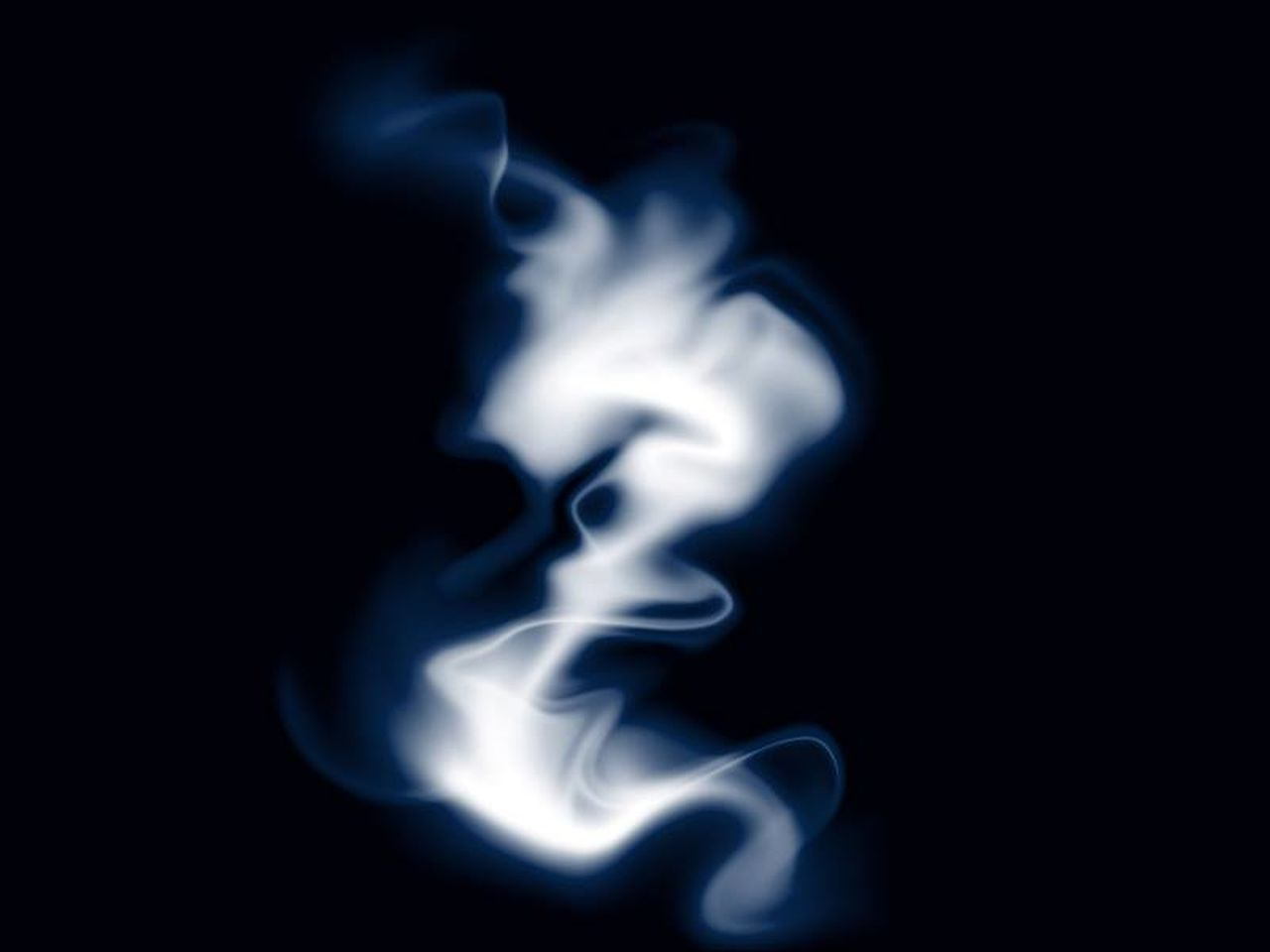 smoke - physical structure, burning, blue, no people, heat - temperature, swirl, black background, flame, motion, close-up