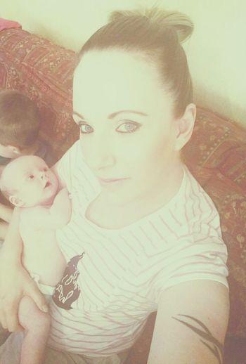 Me and my newborn son Kenzie First Eyeem Photo