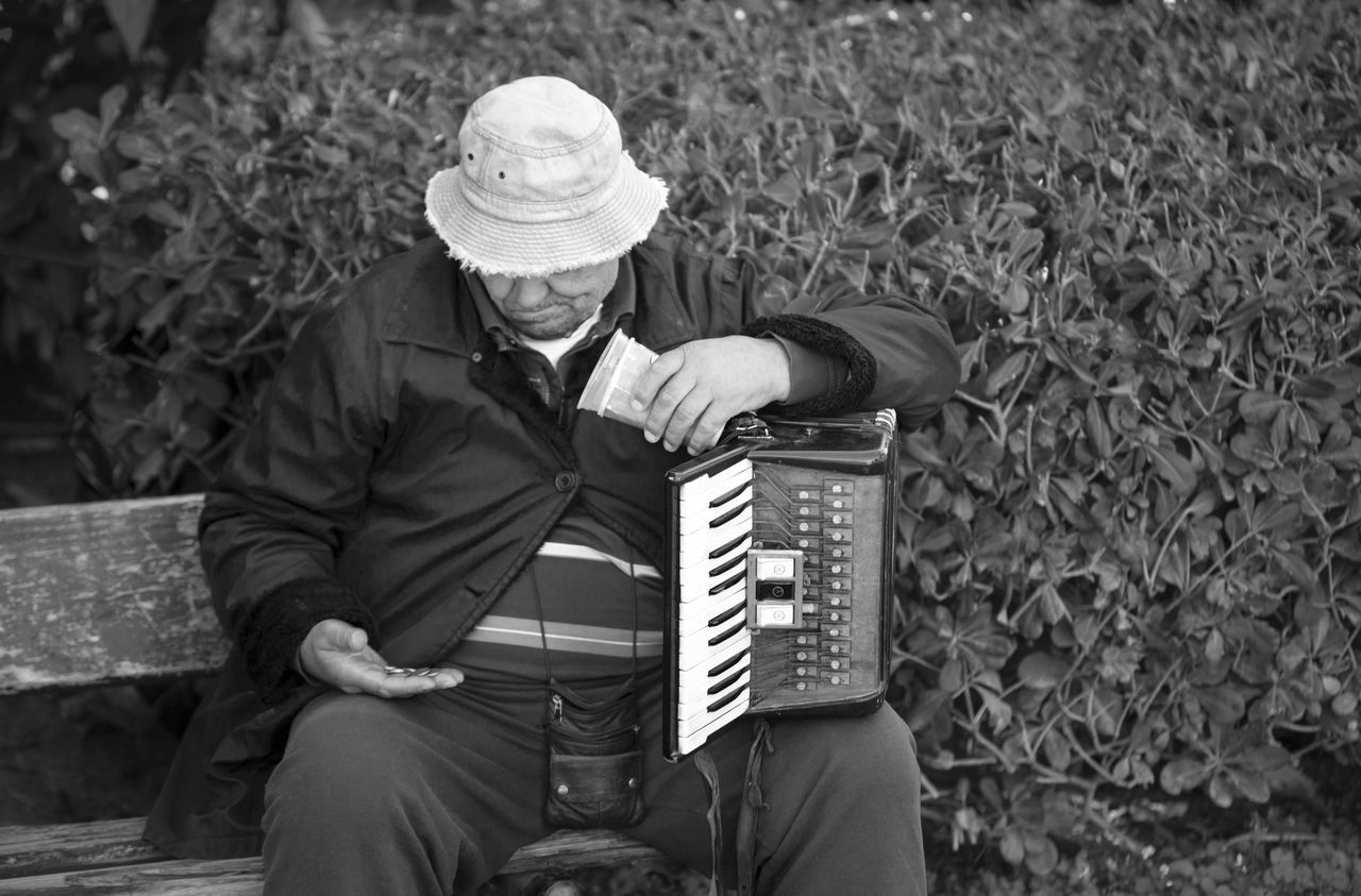 Accordion Adult Adults Only Arts Culture And Entertainment Day Men Music Musical Instrument Musician One Man Only One Person One Senior Man Only Only Men Outdoors People Playing Senior Adult Senior Men Sitting Street Musician