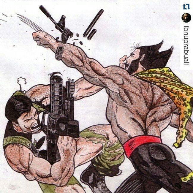 Repost @ibnuprabuali with @repostapp ・・・ Punisher Wolverine Marvel Comic Art Drawing Comic Xmen Logan Frankcastle Adamantium Illustration Drawing Draw Picture Artist Sketch Sketchbook Paper Pen Pencil Artsy Instaart Gallery masterpiece creative instaartist graphic graphics