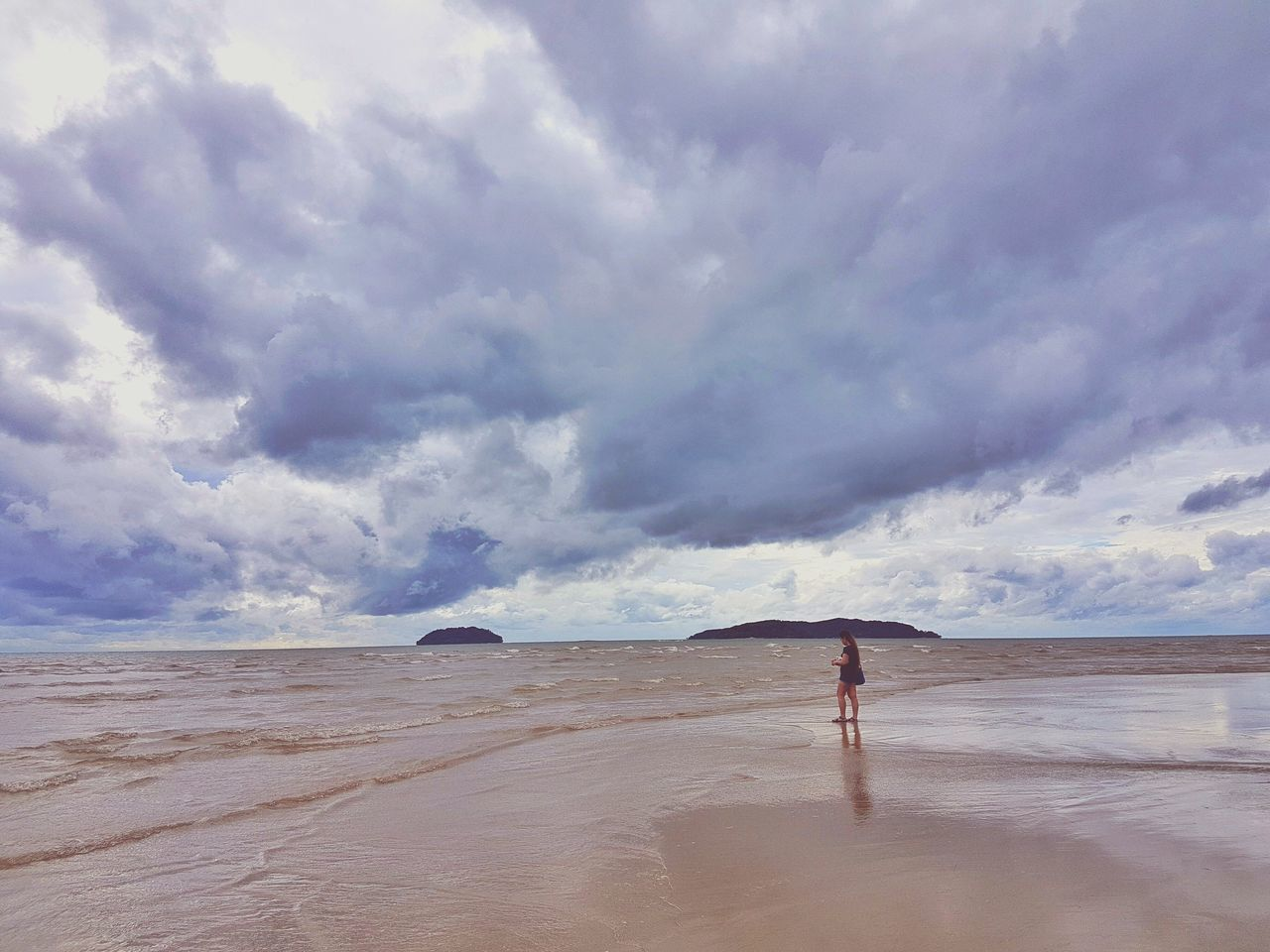 Beach Cloud - Sky Sand One Person Scenics Sky One Man Only Outdoors Full Length Nature Adult Adults Only Water Only Men Landscape Travel Destinations Day Desert Beauty In Nature Sea Eyeem Philippines EyeEmNewHere Traveling Photography TCPM