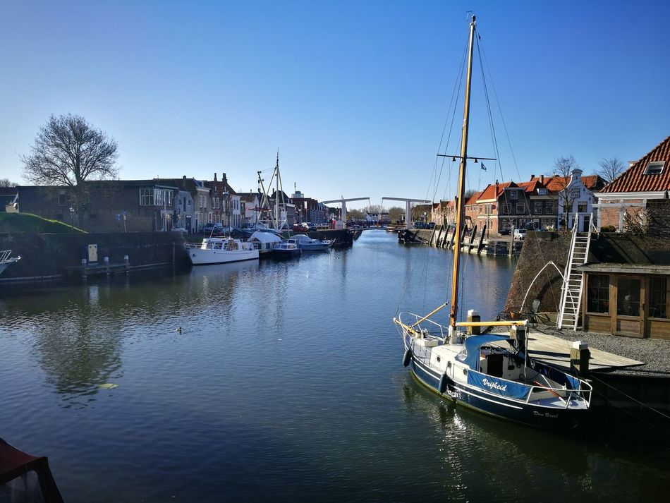 Water Nautical Vessel Transportation Harbor Day City Boat Travel Destinations Ship River Rustic Scenics Rustic Style Dutch Canals Dutch Outdoors