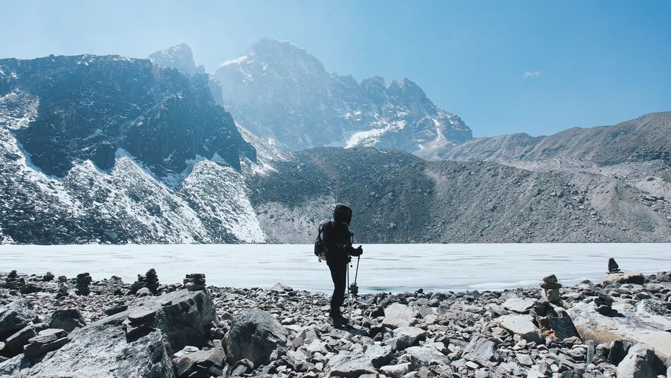 Beautiful stock photos of berge, Beauty In Nature, Day, Gokyo Lake, Lake