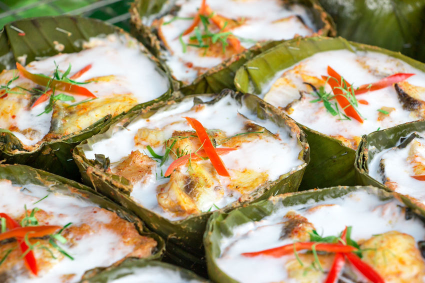 Amok is a popular street food in Thailand and other SE countries Amok Close-up Food Food And Drink Healthy Eating Ready-to-eat Spicy Food Street Food Tasty Tasty Dishes Thai Food