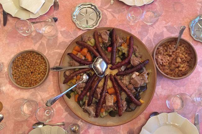 Food Table Dinner Plat Couscous Couscousfest Merguez Diner Time  Diner Couscous Time  Repas Semoule Couscousparty Couscous_Time Repas De Famille  Nourriture Ready-to-eat Plate