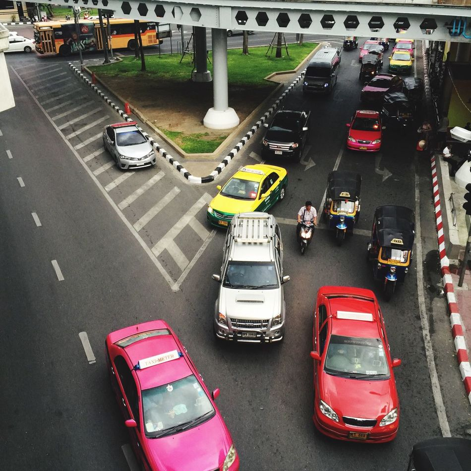 Traffic 2ways Oneway Cars Taxi Service City Thailand EyeEm