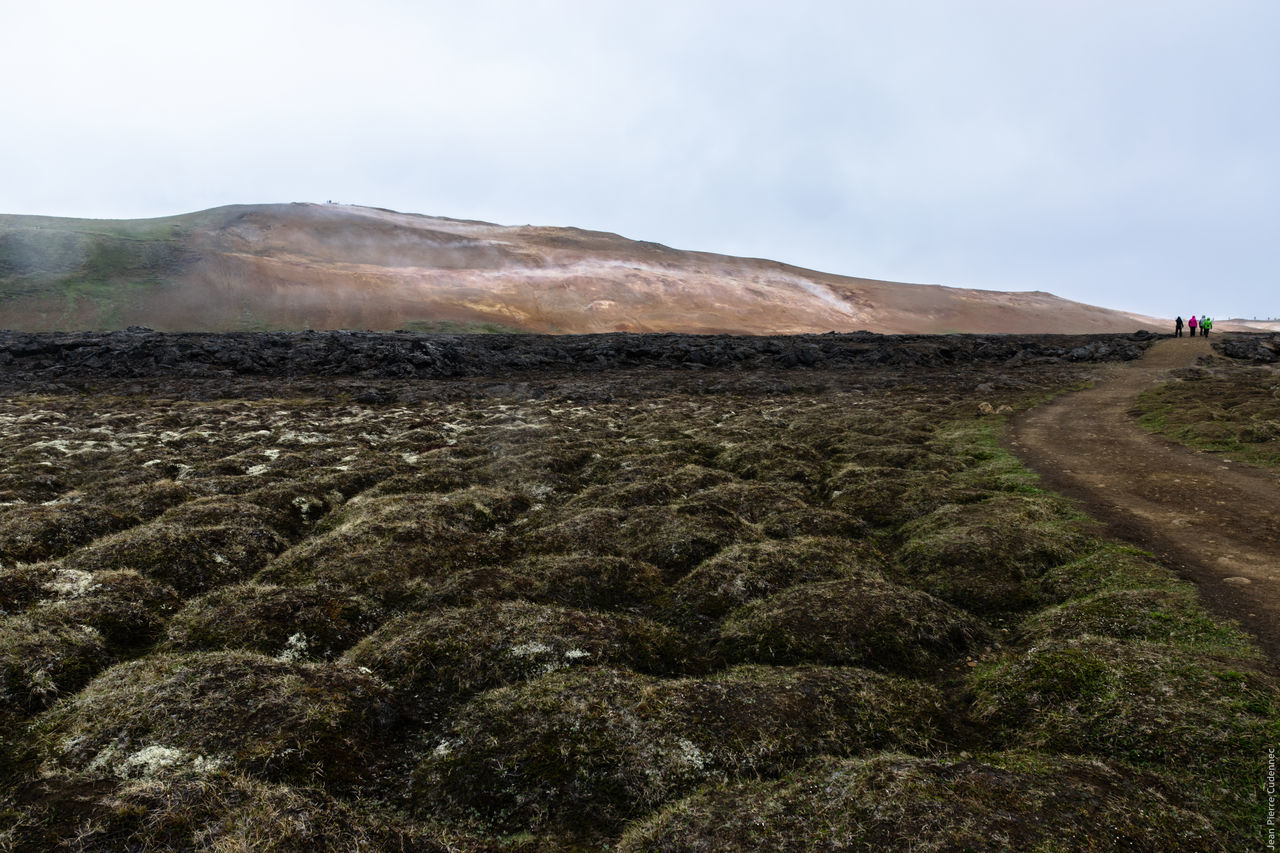 Zone volcanique du Krafla, thufurs (buttes herbeuses) Islande Volcano