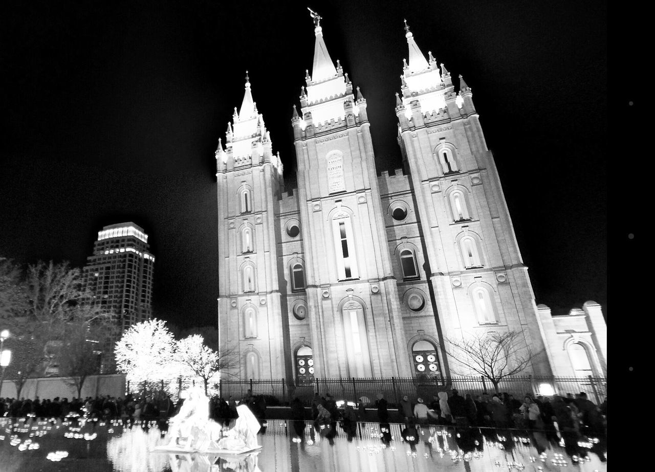 Temple Square Temple Lds Salt Lake City Black And White Salt Lake Temple Mormon Reflection Christmas