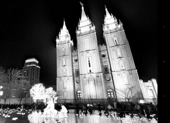 Temple Square Temple Lds Salt Lake City Black And White Salt Lake Temple Mormon Reflection Christmas