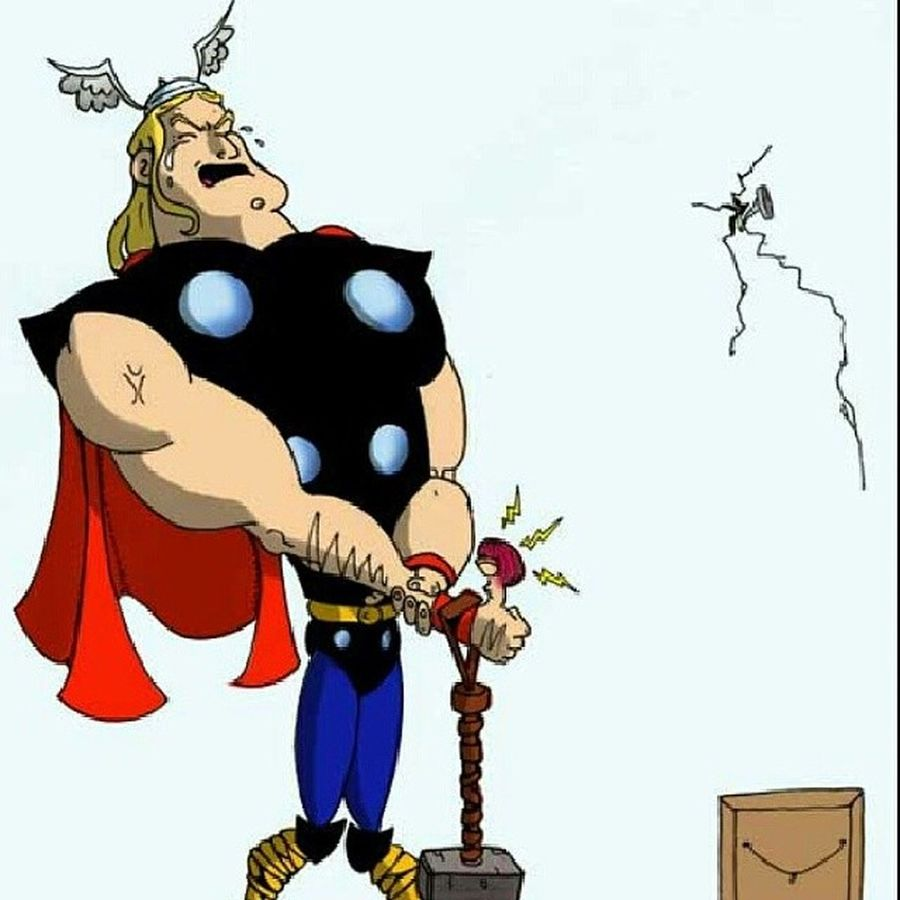 Thor  ROTF Marvel Clumsiness