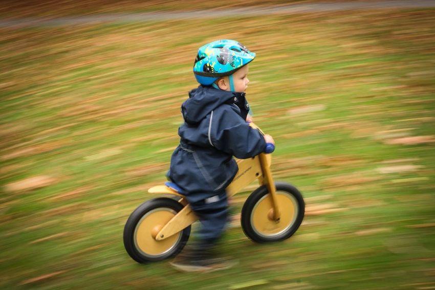 Cycling Speed Boy Helmet Kickbike Autumn EyeEm Best Shots