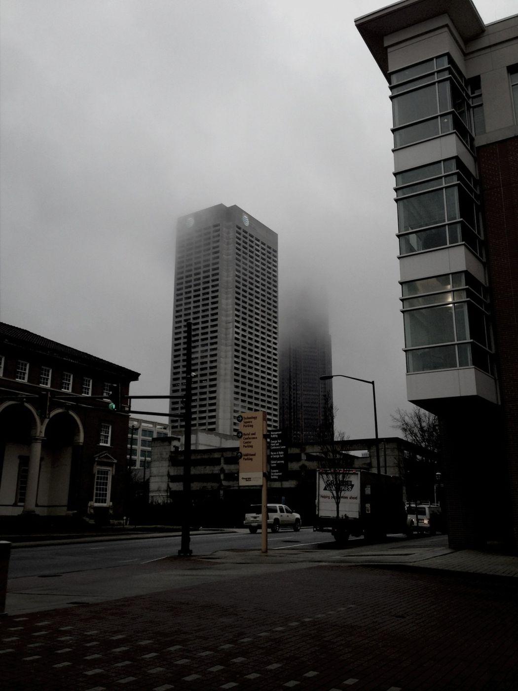 A foggy morning in Atlanta