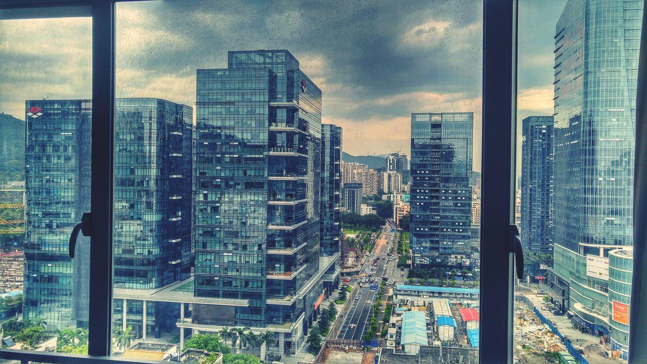 High Rise Building Condo Living Landscape Shenzhen China Shangmeilin Window