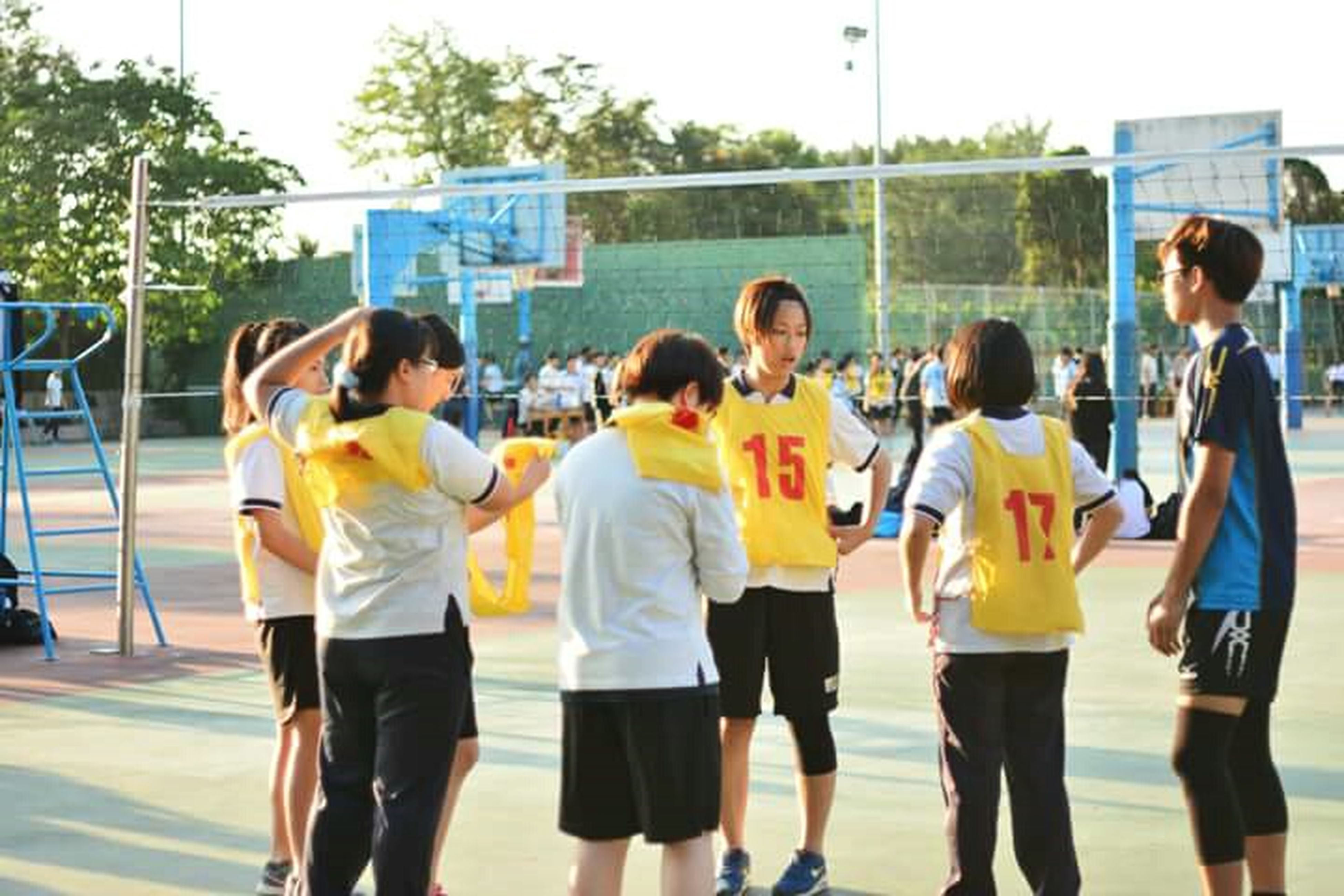 A team Volleyball Game Enjoy The Moment