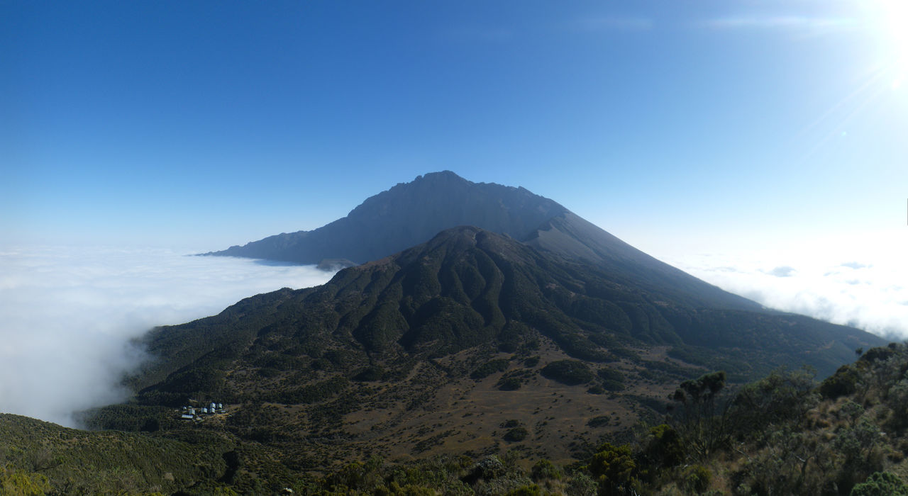 View on Mt. Meru from Little Meru High Altitude Meru Mountain Mt.meru Tanzania