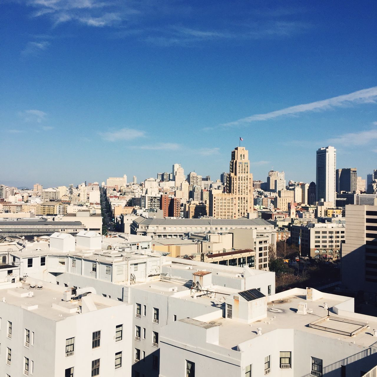 View of San Francisco, USA. Architecture Building Exterior Built Structure California City Cityscape Crowded Day High Angle View IPhone IPhoneography Outdoors Residential Building Residential District San Francisco Sky Skyscraper Square Sunlight Travel Destinations Urban Skyline USA