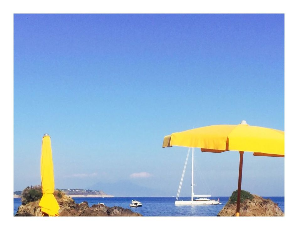 Yellow Italy Bay Sea Ischia Scogli Di Sant'anna Sun Boats Two Sea And Sky