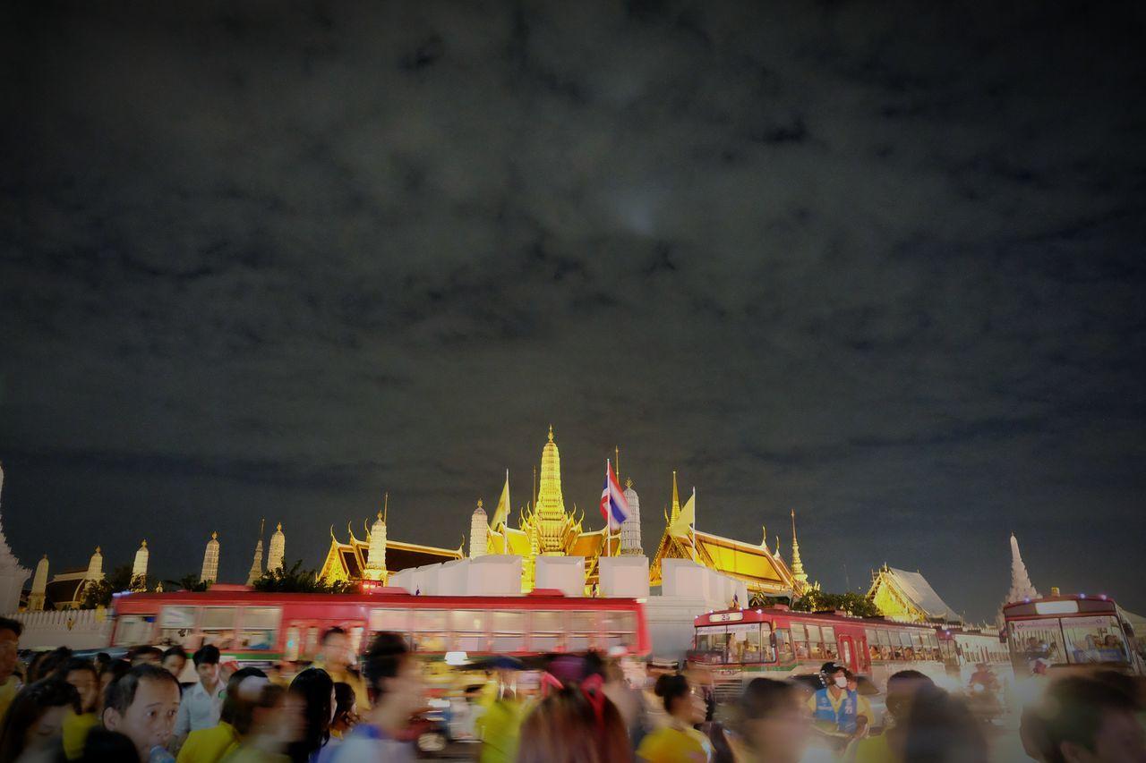 Bangkok Thailand Night Lights Nightshot Grand Palace The Grand Palace Thailand