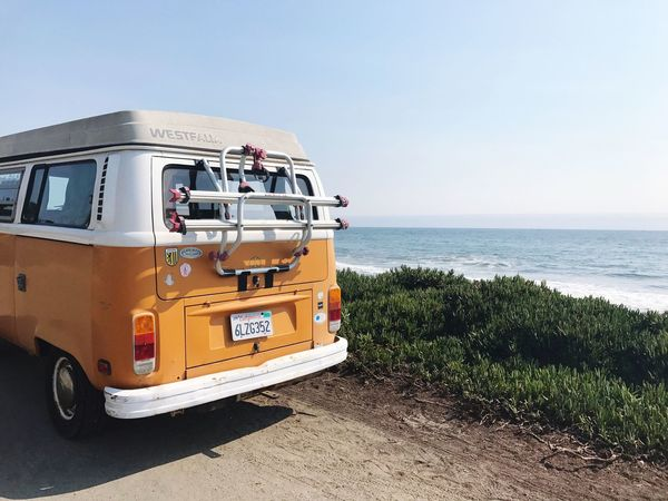 Sea Beach Horizon Over Water Day Water Sand Clear Sky Outdoors Sky No People Nature Sunlight Scenics Beauty In Nature VW Bus VW Bulli