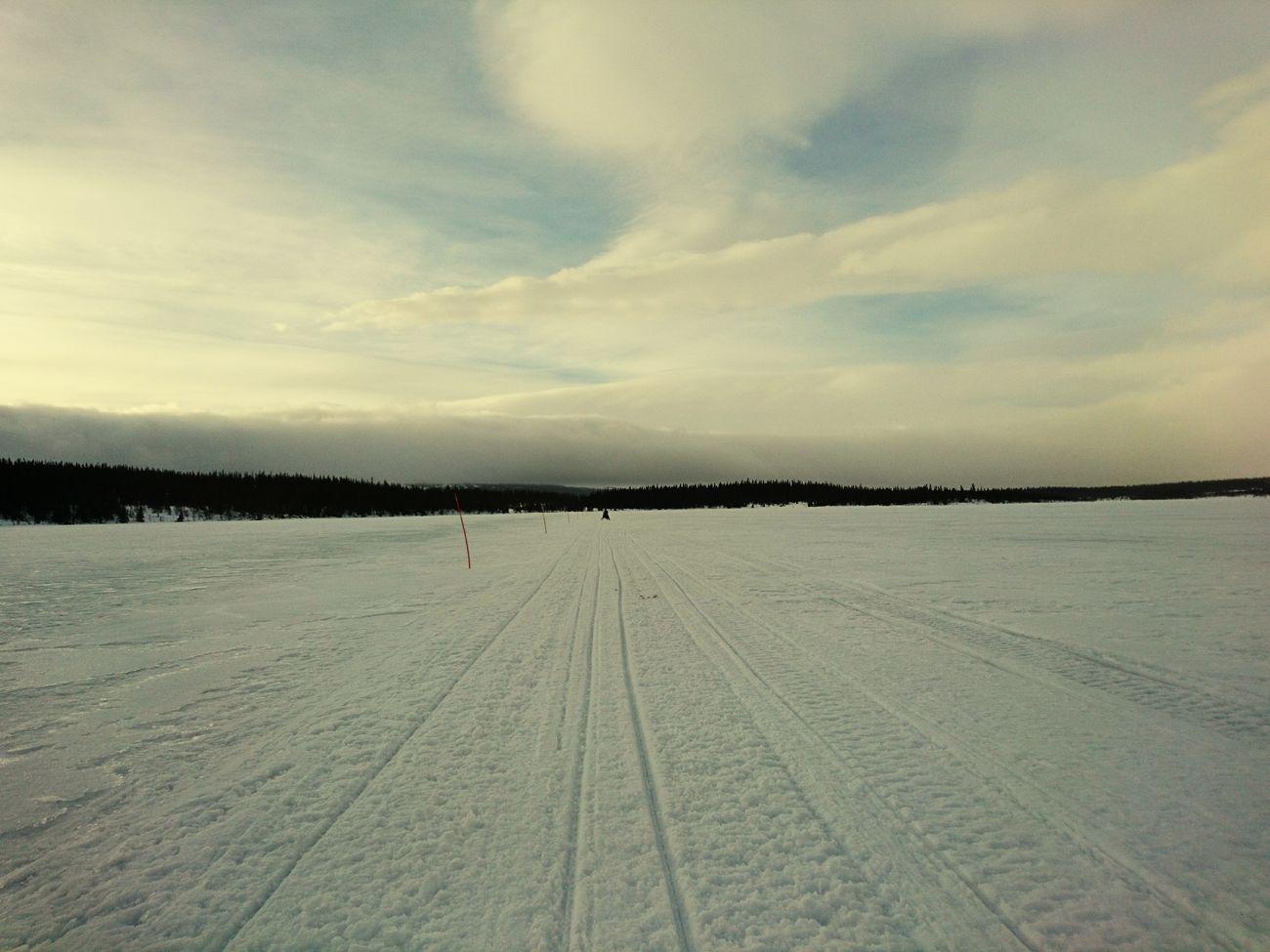 Viksjön Snow Ice Winter Sky Cloud - Sky Nature Landscape Day Drivning My Snowmobile