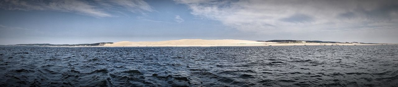 Beauty In Nature Nature Tranquil Scene Cold Temperature Tranquility Scenics Day Outdoors Dune Du Pyla France Arcachon L3sph3nry Sky Snow No People Mountain Landscape Water Landscape_Collection Landscape_photography Landscapes Naure Shot Naturelovers Sand Dune Sand & Sea
