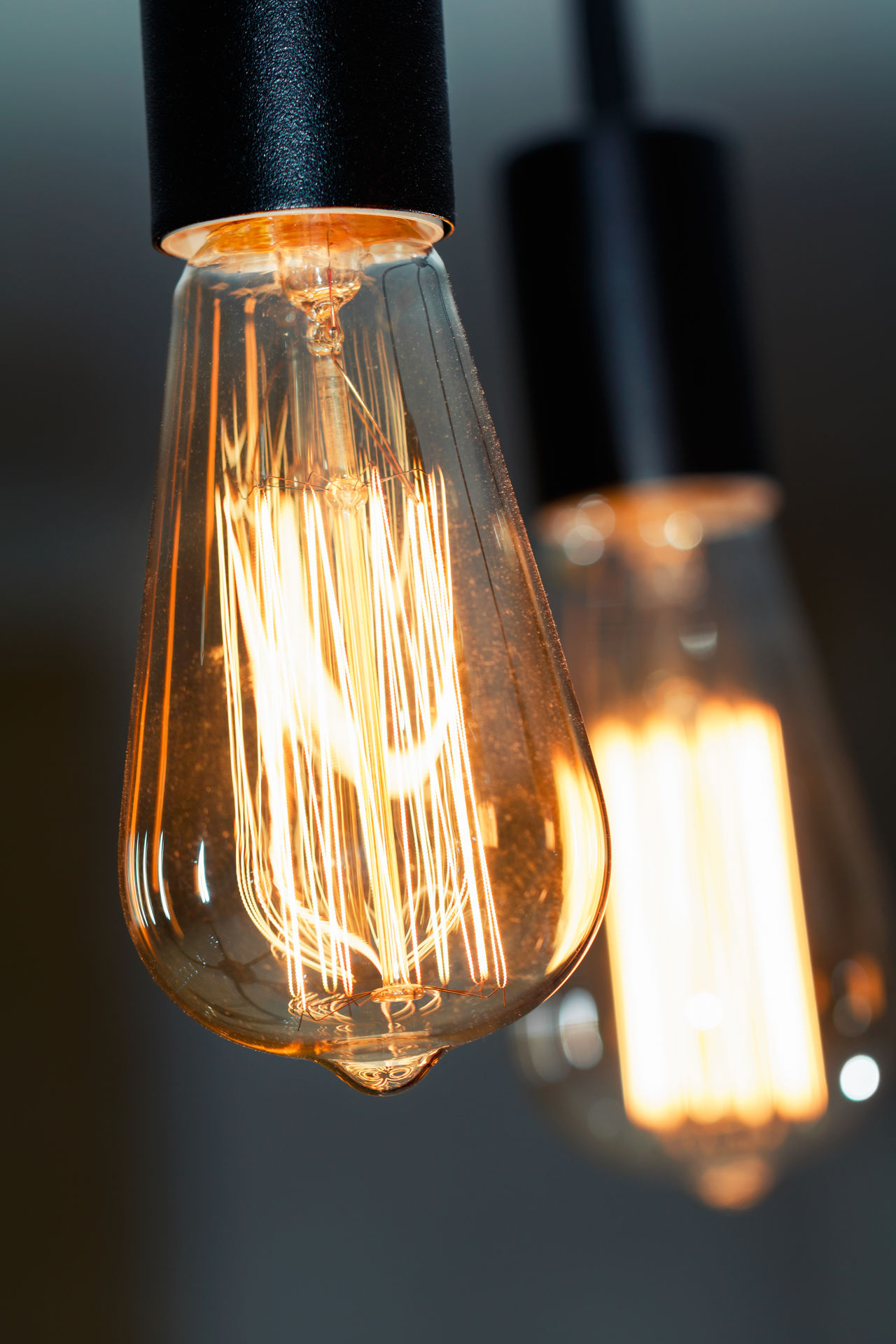 Black Background Bulb Close-up Electricity  Filament Fuel And Power Generation Glowing Hanging Illuminated Innovation Inspiration Light Bulb Lighting Equipment No People Scientific Experiment Single Object Technology