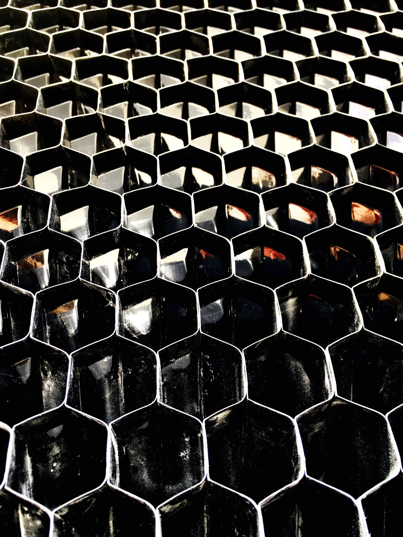 what is this? Pattern Contructionwork No People Close-up Day Hexagon Honeycomb Microscopic View Architecture Artificial