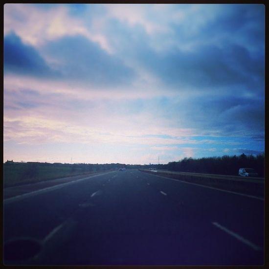 Some blue skies in there Lythamstannes Motorway England Wintersday sundaydrive blueskies