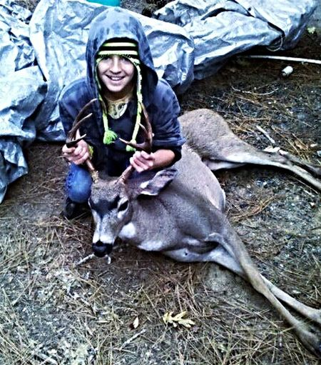 5 year old photo of the first buck i shot and to this day i cant get over the Batman marking Hunter Buck Deer Hunting