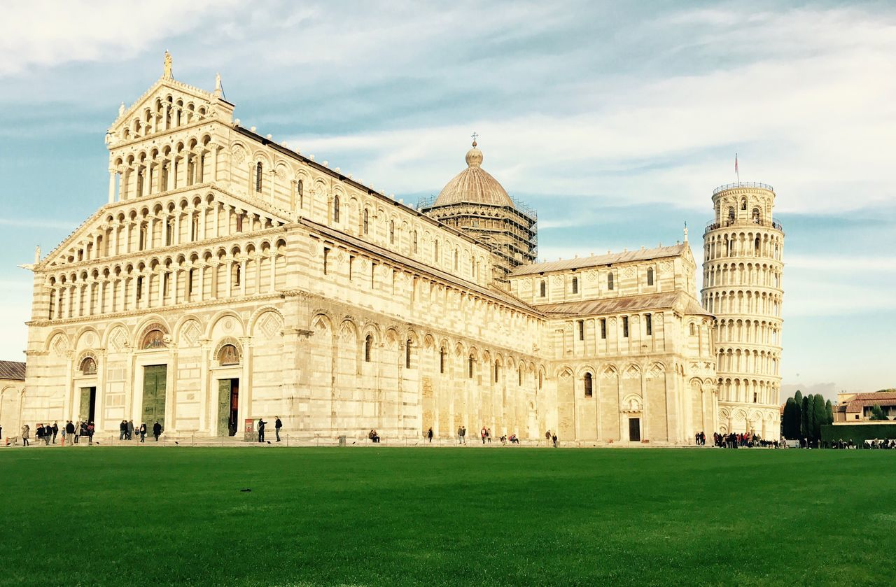 Architecture Building Exterior Built Structure Sky Grass Travel Destinations History Outdoors Day No People Pisa