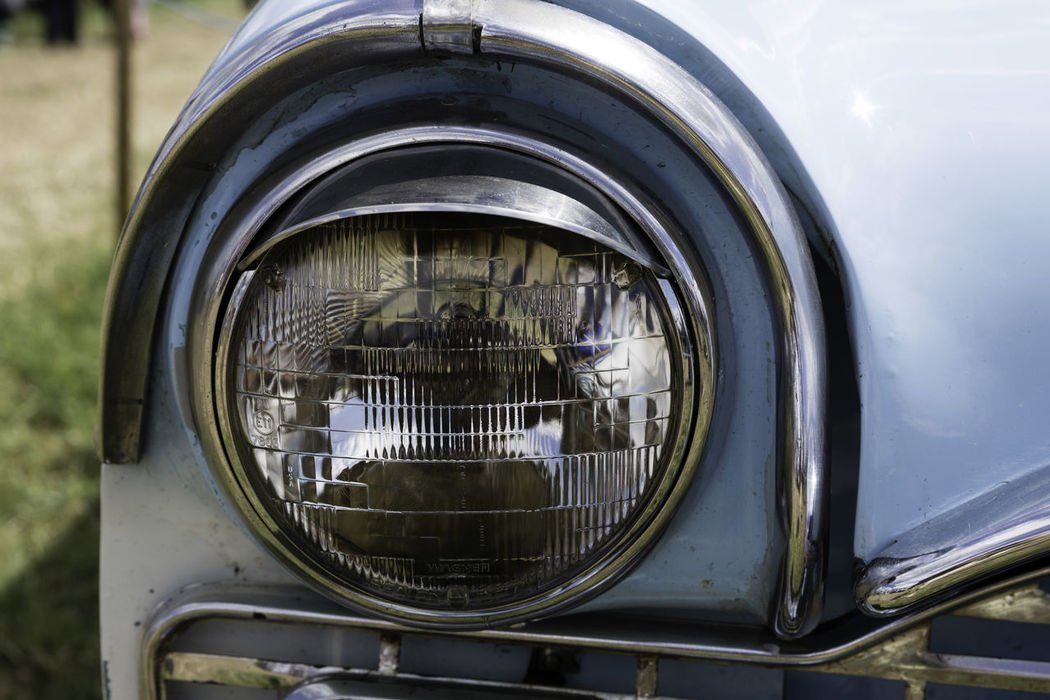 'Head Light' Bygone Car Close-up Day From The Past Headlight Land Vehicle Light Mode Of Transport No People Old Car Old-fashioned Olde Worlde Outdoors Pale Blue Shiny Transportation Vintage