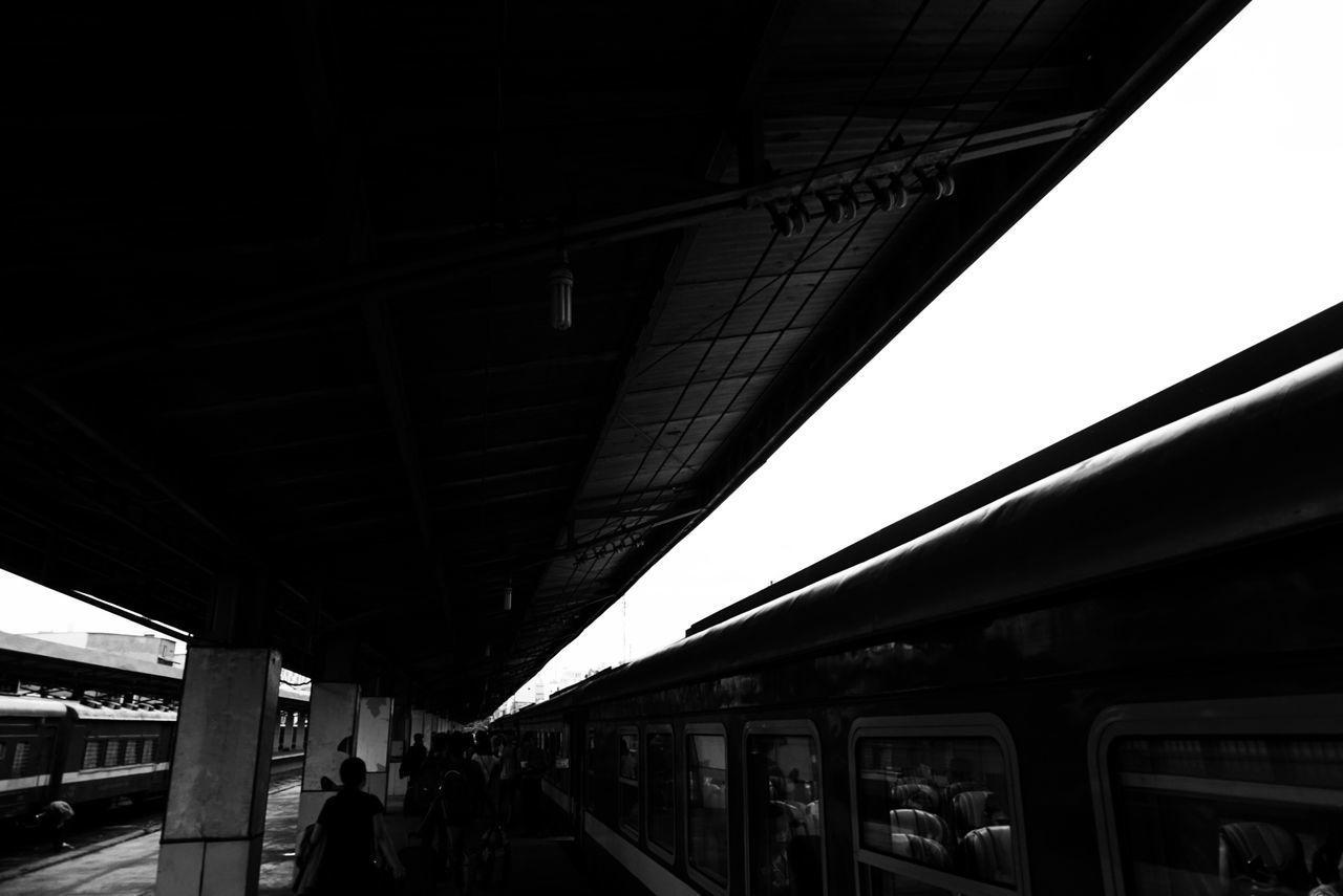 The rail Outdoors Sky Subway Train Journey Alpha Corner B&w