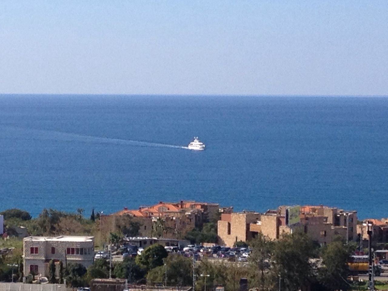 Shades Of Blue Blue Blue Sky Blue Sea Deep Blue Horizon Over Water East Mediterranean Lebanon Byblos